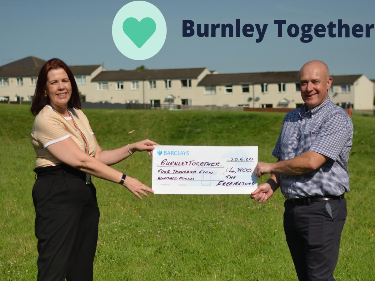 Burnley Together £4,800 Charitable donation