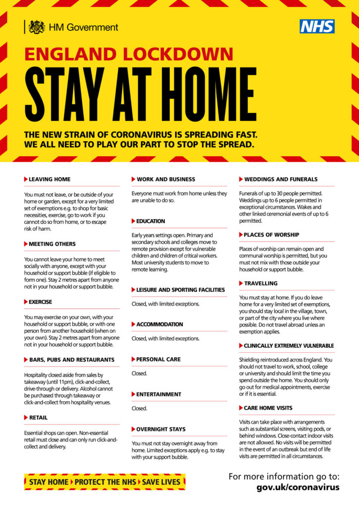 Stay at Home government guidance